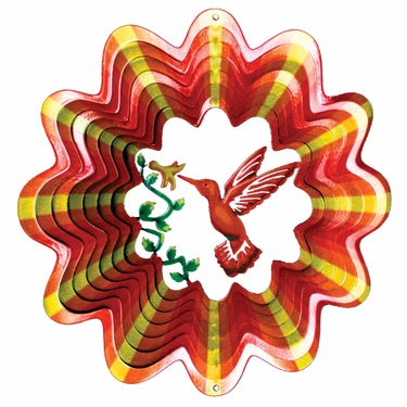 Designer Hummingbird Wind Spinner - Click to enlarge