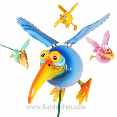 Dodo Birds on a Stick (Set of 6) - Click to enlarge