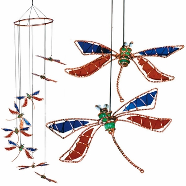 Dragonfly Spiral Suncatcher - Click to enlarge