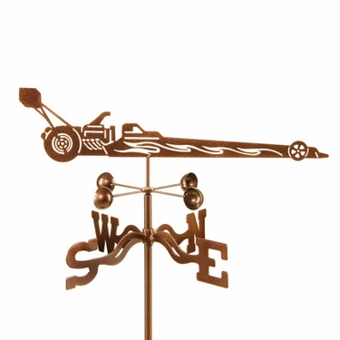 Dragster Weathervane - Click to enlarge