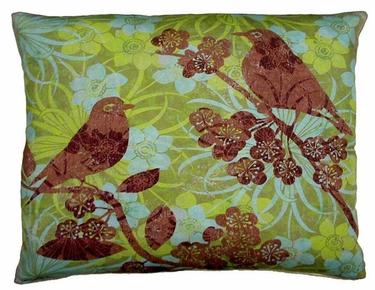 Duet Bird 1 Outdoor Pillow - Click to enlarge