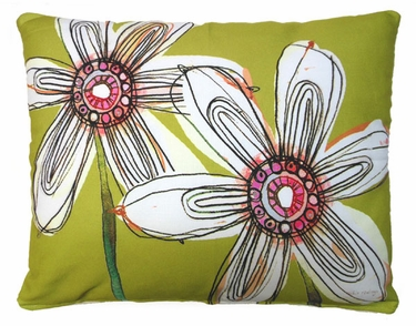 Fabulous Flowers Outdoor Pillow - Click to enlarge