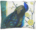Fabulous Peacock Outdoor Pillow
