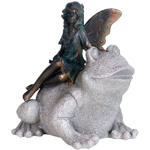 Fairy on Frog Statue