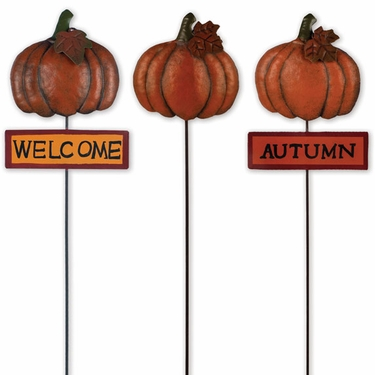 Fall Pumpkin Picks (Set of 3) - Click to enlarge