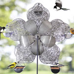 Ferris Wheel Bird Feeder - Filigree Flower
