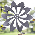 Ferris Wheel Bird Feeder - Grey Pinwheel
