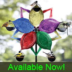 Ferris Wheel Bird Feeder - Multi-Color Flower