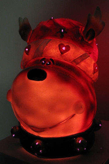 Fiber Optic Christmas Reindeer Head - Click to enlarge