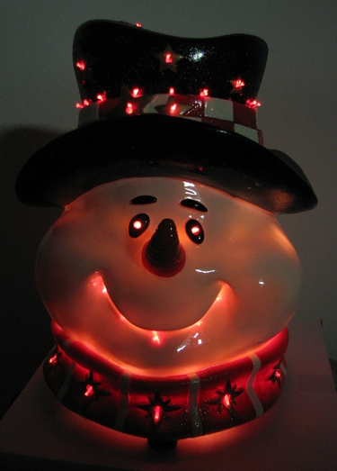 Fiber Optic Christmas Snowman Head - Click to enlarge