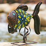 Filigree Fish w/Mosaic Tiles - Bronze