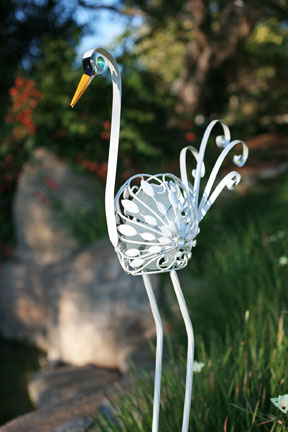 Filigree Swan Bird Spinner - Click to enlarge