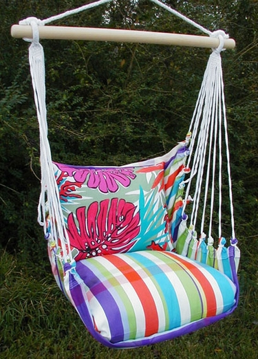 Fine & Dandy Colorful Leaves Hammock Chair Swing Set - Click to enlarge