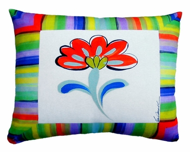 Fine & Dandy Flower Outdoor Pillow - Click to enlarge
