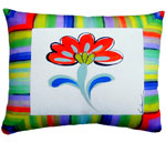 Fine & Dandy Flower Outdoor Pillow