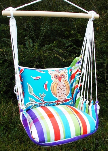 Fine & Dandy Owl Hammock Chair Swing Set - Click to enlarge