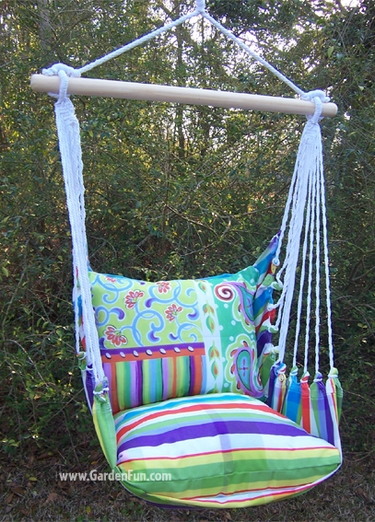 Fine & Dandy Paisley Hammock Chair Swing Set - Click to enlarge