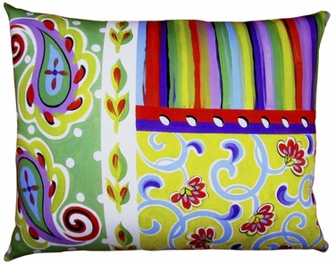 Fine & Dandy Paisley Outdoor Pillow - Click to enlarge