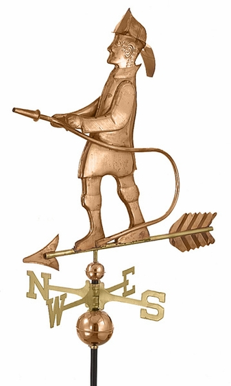 Fireman Weathervane - Click to enlarge