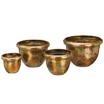 Flamed Dots Nesting Planters (Set of 4)