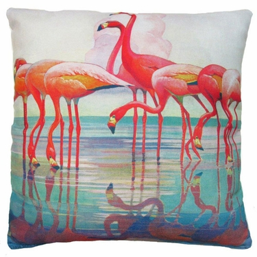 Flamingos Outdoor Pillow - Click to enlarge