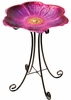 Flower Bird Bath w/Stand