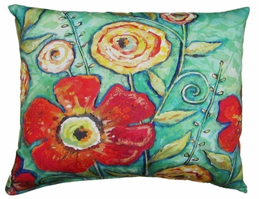 Flower Burst Outdoor Pillow - Click to enlarge