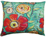 Flower Burst Outdoor Pillow