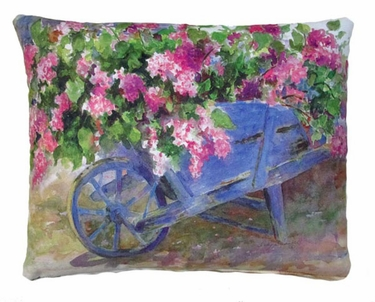 Flower Cart Outdoor Pillow - Click to enlarge