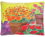 Flower Pots Outdoor Pillow