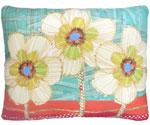 Flower Trio Outdoor Pillow