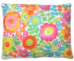 Flowers All  Over Outdoor Pillow