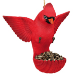 Flying Bird Feeder - Cardinal