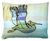 Flying Pelican Outdoor Pillow