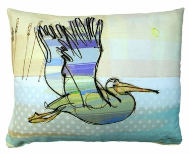 Flying Pelican Outdoor Pillow - Click to enlarge