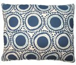 Folsom Blue Circles Outdoor Pillow