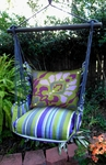 Folsom Dumask Purple Hammock Chair Swing Set