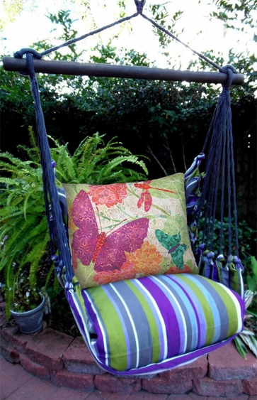 Folsom Nature Butterflies Hammock Chair Swing Set - Click to enlarge