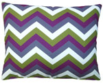 Folsom Purple Chevron Outdoor Pillow