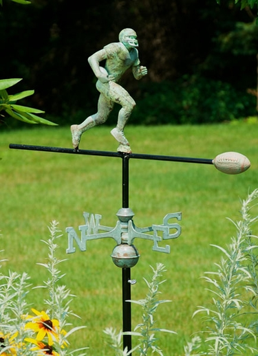 Football Player Weathervane - Click to enlarge