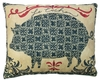 French Pig Outdoor Pillow