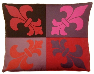 French Quarter Lava Outdoor Pillow - Click to enlarge