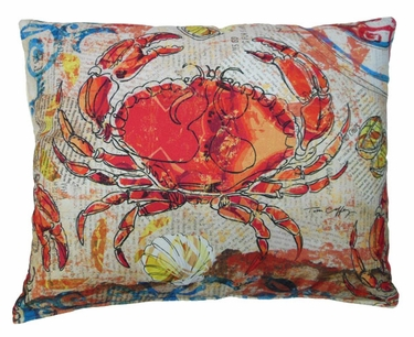 Fresh Catch Crab Outdoor Pillow - Click to enlarge