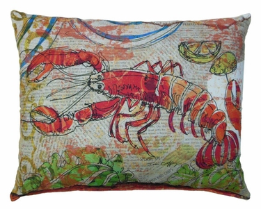 Fresh Catch Lobster Outdoor Pillow - Click to enlarge