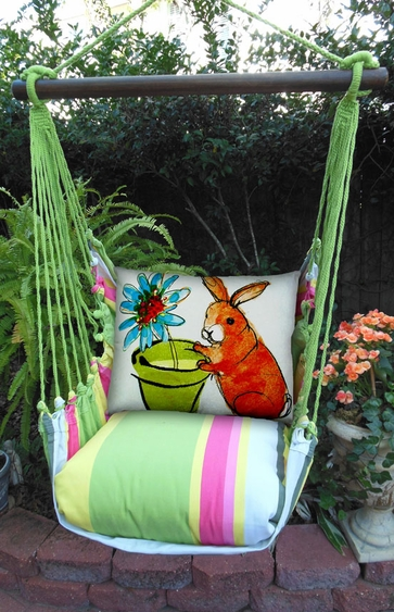Fresh Lime Bunny Hammock Chair Swing Set - Click to enlarge