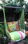 Fresh Lime Colorful Garden Hammock Chair Swing Set