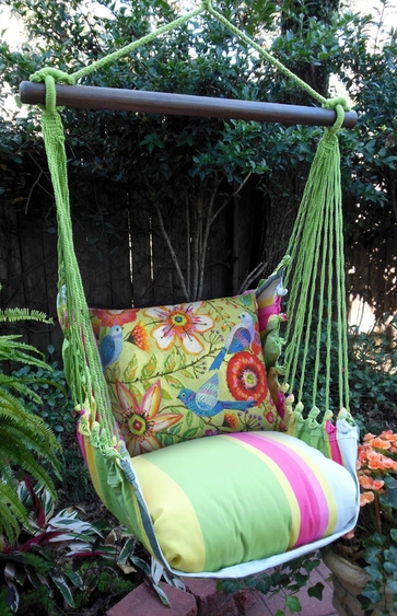 Fresh Lime Colorful Garden Hammock Chair Swing Set - Click to enlarge