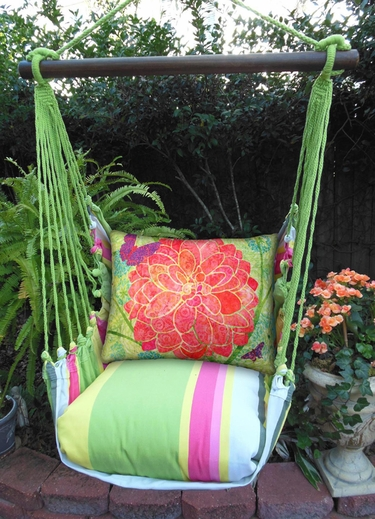 Fresh Lime Colors of Nature Hammock Chair Swing Set - Click to enlarge