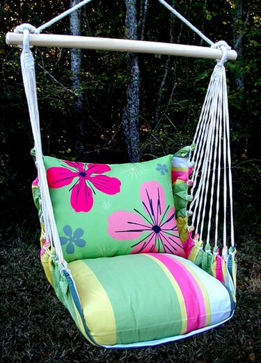Fresh Lime Flowers Hammock Chair Swing Set - Click to enlarge