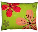 Fresh Lime Flowers Outdoor Pillow